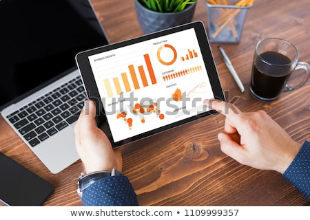 Businessman using a tablet computer Stock photo © juniart