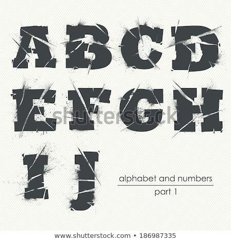 Mektup grunge harfler düşen doku dizayn Stok fotoğraf © PokerMan