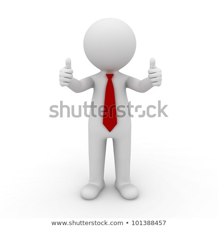 Cheerful Businessman Showing Thumbsup Stock photo © AndreyPopov