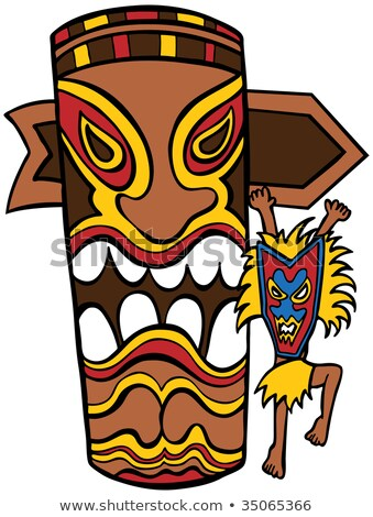Witch Doctor with Totem Pole Stock photo © cteconsulting
