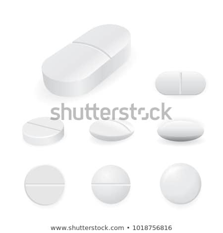 Fehér orvosi tabletták kezelés izolált egészség Stock fotó © konturvid