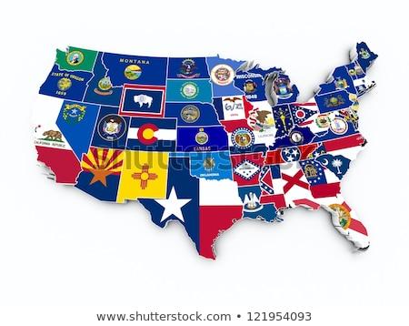 Connecticut piros 3D USA térkép terv Stock fotó © iqoncept