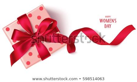 polka dot red gift box Stock photo © lubavnel