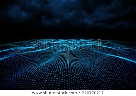 Digitalmente generado código binario paisaje azul Foto stock © wavebreak_media
