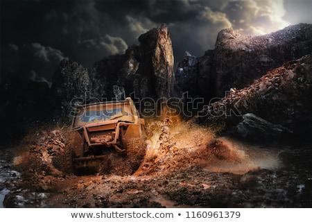 オフ 泥 スプラッシュ 道路 車両 穴 ストックフォト © suemack
