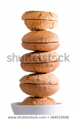 Neatly stacked tower of macaroons Stock photo © ozgur