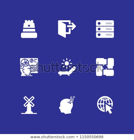 Seo Internet imzalamak mavi vektör düğme Stok fotoğraf © rizwanali3d