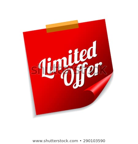 Limited Time Offer Red Sticky Notes Vector Icon Design Stock photo © rizwanali3d