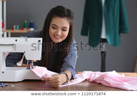 женщины портной швейные машины семинар портрет Сток-фото © deandrobot