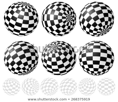 Stock photo: Spheres_checker