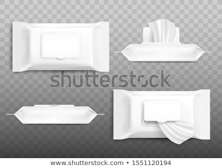 wet wipes package with flap isolated on white background. Stock photo © netkov1