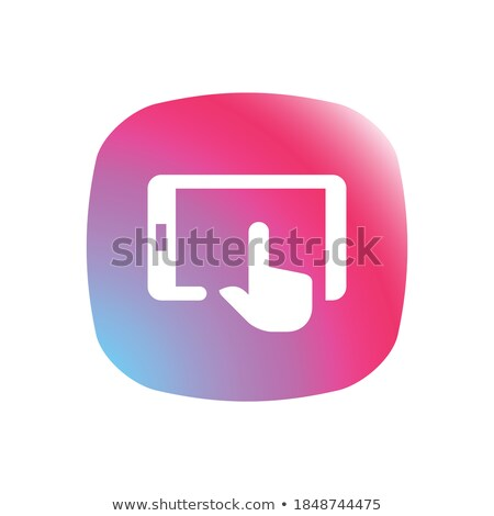APPs Concept. Person Click Keyboard Button. Stock photo © tashatuvango