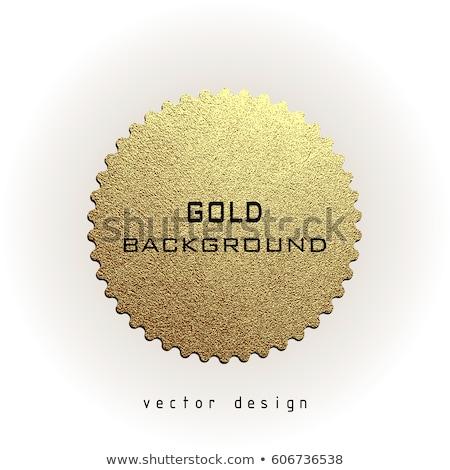 Original producto dorado vector icono diseno Foto stock © rizwanali3d