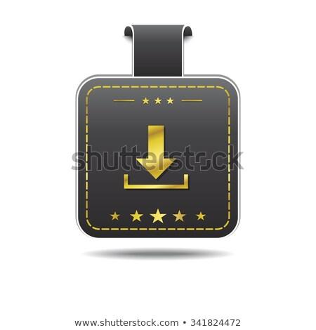 Pobrania złoty ikona projektu internetowych złota Zdjęcia stock © rizwanali3d