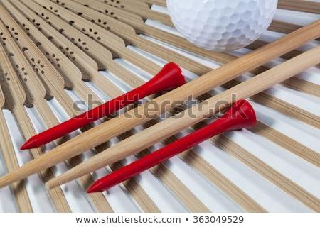 Tipikus japán kéz ventillátor evőpálcikák golf Stock fotó © CaptureLight