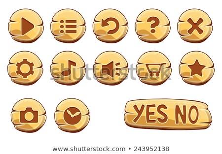 Klok vector goud web icon knop Stockfoto © rizwanali3d