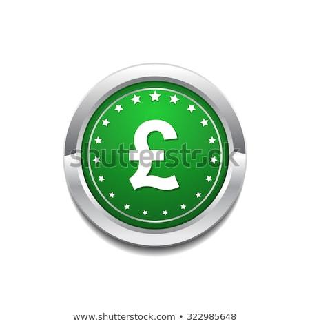 Pound Currency Sign Circular Vector GreenWeb Icon Button Stock photo © rizwanali3d