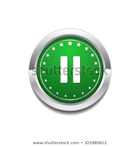 Pause Circular Vector GreenWeb Icon Button Stock photo © rizwanali3d