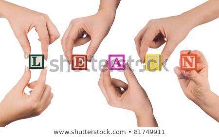 decision   white word on red puzzles stock photo © tashatuvango