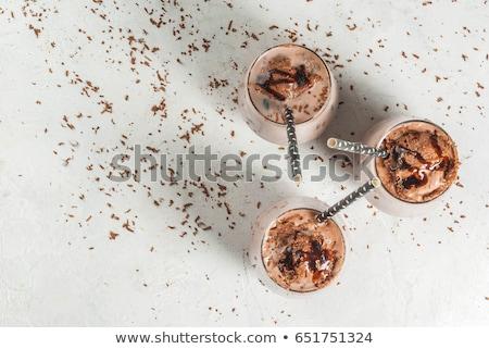 Ghiacciato cioccolato caffè vetro tavola bere Foto d'archivio © Digifoodstock