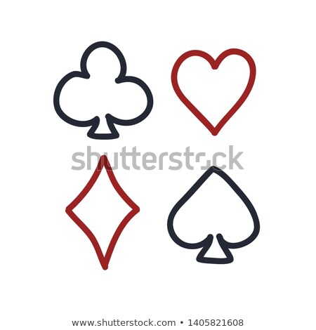 4 スペード 演奏 カード 白 赤 ストックフォト © Bigalbaloo