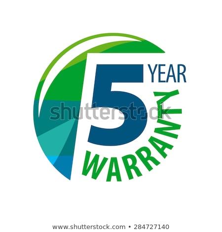 Rok gwarancja zielone wektora ikona projektu Zdjęcia stock © rizwanali3d
