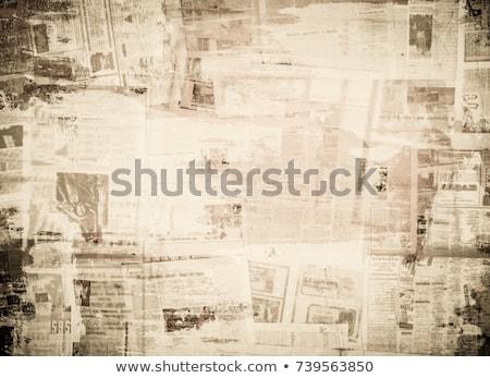 старые иллюстрация полях Blue Sky бумаги облака Сток-фото © Avlntn