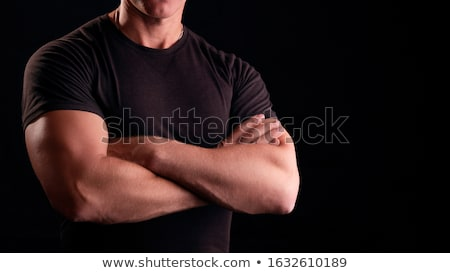 man with arms folded stock photo © deandrobot