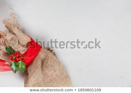 Christmas linen packet Stock photo © ssuaphoto