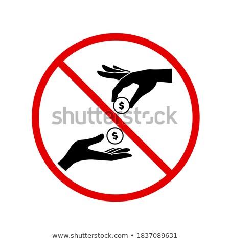 szerzői · jog · figyelmeztető · jel · izolált · fehér · üzlet · felirat - stock fotó © ivelin