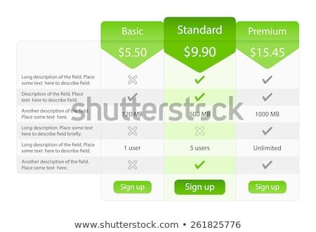 świetle wycena tabeli opcje jeden plan Zdjęcia stock © liliwhite
