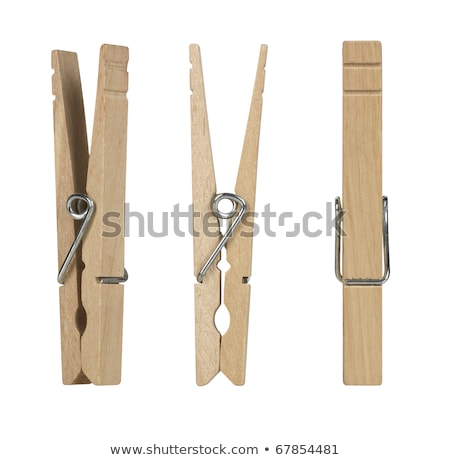 wooden pegs isolated on a white background stock photo © shutswis