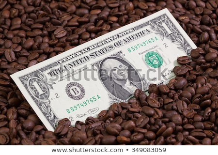 Koffiebonen bankbiljet dollar geld koffie drinken Stockfoto © CaptureLight