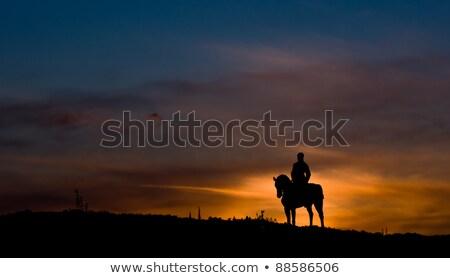 at · siluet · gün · batımı · örnek · doğa - stok fotoğraf © adrenalina