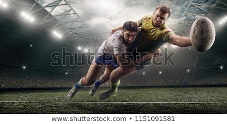 Rugby gracz przeciwnik portret sportu czarny Zdjęcia stock © wavebreak_media