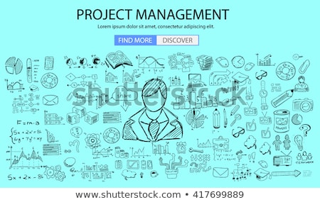 Personal recruitment concept  with Doodle design style :people inteview, Stock photo © DavidArts