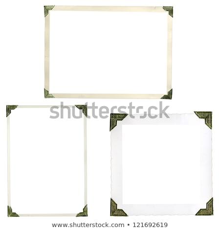 Régi fotó sarkok kép fotó kopott papír Stock fotó © FOTOYOU