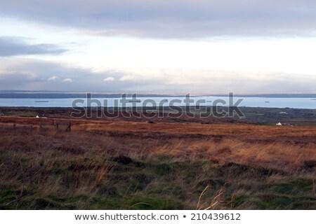 большой способом Ирландия оранжевый закат Сток-фото © morrbyte