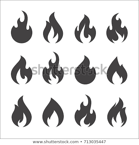 Flame icons Stock photo © bluering
