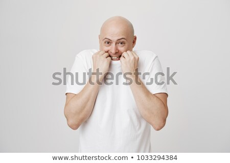 Shy guy posing Stock photo © stevanovicigor