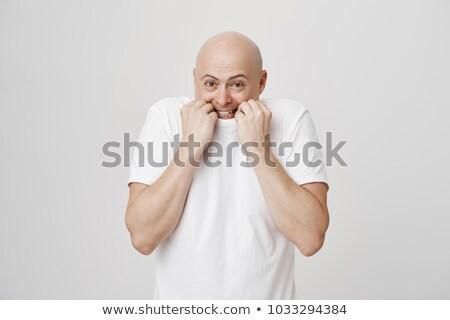 verlegen · nerveus · jonge · man · portret · spelen - stockfoto © stevanovicigor
