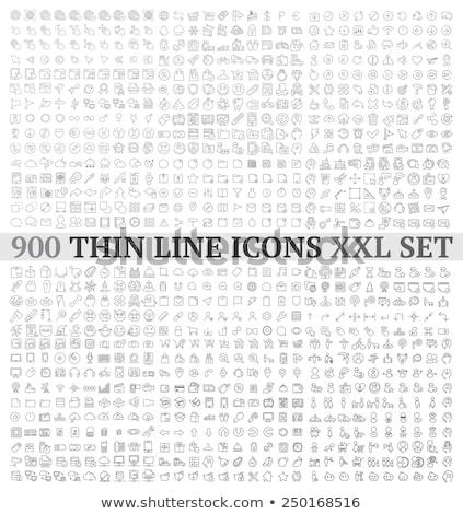 zodiac signs thin line vector icons stock photo © m_pavlov