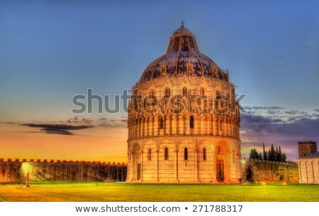 The Pisa Baptistry at night Stock photo © Digifoodstock