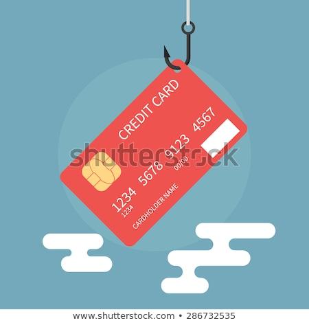 Arculat hitelkártya lopás bűnöző gyönyörű nő akasztás Stock fotó © phakimata