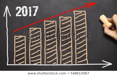 Growth Graph Year 2017 Blackboard Concept Stock photo © ivelin