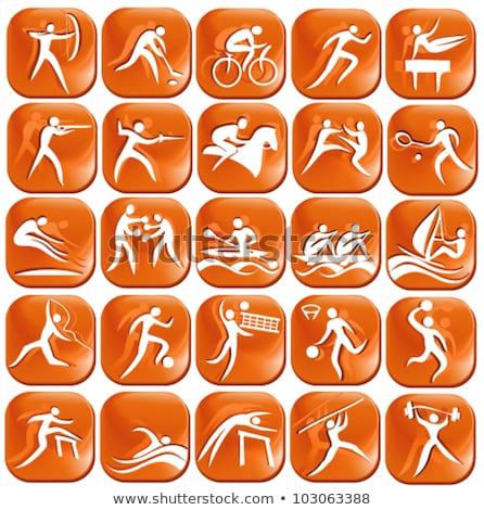Foto stock: Sport Icon Design For Javelin