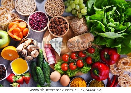 Variëteit voedsel groep brood kaas Stockfoto © M-studio
