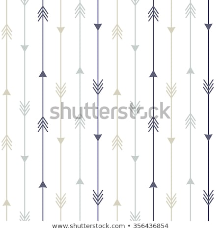 vector seamless pattern arrows and feathers stock photo © trishamcmillan