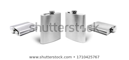 Csípő flaska fém háttér üveg fehér Stock fotó © hamik