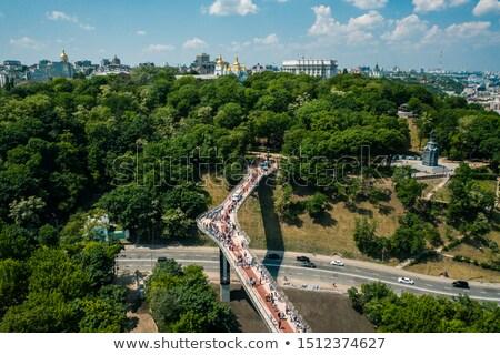 voetganger · brug · Oekraïne · plezier · boot · rivier - stockfoto © joyr